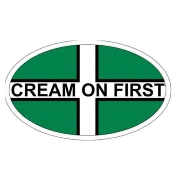 Cream on First Window Sticker