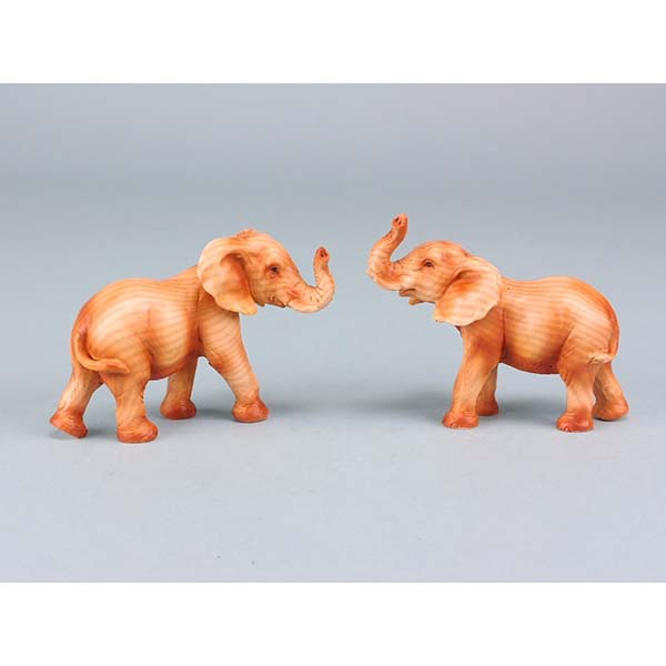 Wood effect elephant